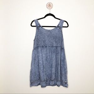 Altar'd State Blue Mineral Wash Sleeveless Top